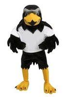 Vente chaude 2016 Deluxe peluche Falcon mascotte Costume adulte taille aigle Mascotte Mascota Carnaval parti Cosply Costume Déguisements costume adaptée