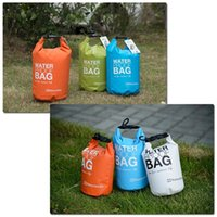 Wholesale NEW Portable Ultralight Outdoor Travel Rafting Waterproof Dry Bag Swimming L Small Blue White Orange Green