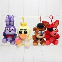 toys lots - 4pcs Plush pendant cm FNAF Five Nights At Freddy s pendant plush toys doll keychain