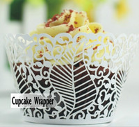 Wholesale Laser Cut Cupcake Wrapper Cake Liners Decorating Boxes Cup Tools For Wedding Baby Shown Birthday Christmas Decoration Supplies