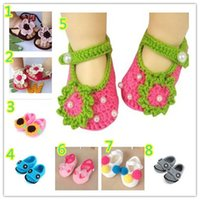 Wholesale Strawberry Fabric Wholesale - Crochet Sandals Baby Shoes 2015 New Fashion Explosion Models Wool H- knit Wool Baby Toddler Shoes shoes low to help Low- tube Strawberries B