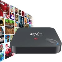 Wholesale 2015 new Mali450 K H G GB Wifi XBMC DLNA Miracast Airplay Tv Receivers Set Top Box Quad Core MX III Android TV Box Player