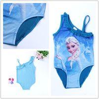 Wholesale Princess Swimwear New Hotsale Elsa Anna Girls Princess Swimwear children Bathing Suitsuits Kids Swim Clothing Beach Sports Bikini