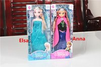 Wholesale Mixed batch of Frozen doll Wearing Crown Frozen Elsa Anna Doll With Original Box joints can activities baby Toys kid s gift