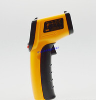 Wholesale New Non Contact Laser LCD IR Infrared Digital Thermometer Heat Meter Temperature Measuring Gun Point Degree