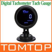 auto meter tach - Digital Tachometer Tach Gauge for Auto Car mm in LCD RPM Warning Light Car Gauge Meter Pod Holder Cup Mount