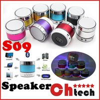 aluminum door seal - S09 Bluetooth Speaker Out door Speakers with LED of light Micro TF Card Call Function DHL No Logo with Retail Box