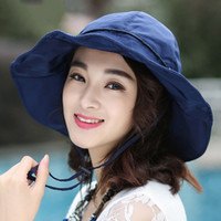 Wholesale New Bucket Hats Women Men Caps Fashion Outdoor Camping Fishing Hat Wide Brim Sun Hats