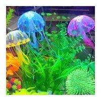 Wholesale Fish Tank Aquarium Decoration Artificial Glowing Jellyfish For Aquarium Fish Jar Box Ornament