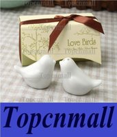 Wholesale love bird wedding decorations Nice sets Popular Wedding Favor Love Birds Salt And Pepper Shaker Party Favors For Party Gift