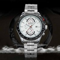 watches - 2015 CURREN Luxury Hours Sports Watch Men Men s Quartz Watches Dress wristwatch Casual watch Date man full steel watch H14985