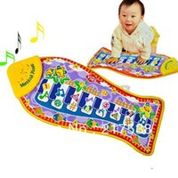 animal piano games - 1pc Baby Kid Child Music Fish Animal Toy Musical Instrument Touch Kick Play Fun Toy Game Piano Playing Type Toy