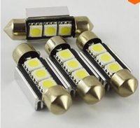 acura plates - 10PCS Canbus SMD mm White Error Free Canbus Festoon Number License Plate Light Car LED Bulb