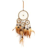 Wholesale New Indian Style Feather Dreamcatcher Folk Art Wind Chimes Decoration For Living Room Wall Hanging Gifts