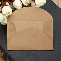 Wholesale 200pcs Retro Handmade Mini Kraft Paper Envelope Stationery Gift for Wedding Gift Party Invitation Card Business Card x9cm