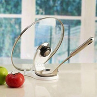 Wholesale Spoon Pot Lid Shelf Cooking Storage Kitchen Decor Tool Stand Holder New
