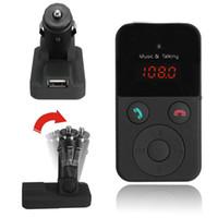 Wholesale Wireless Bluetooth FM Transmitter Modulator Car Kit MP3 Player LCD Display Support SD USB Remote Control CAU_303