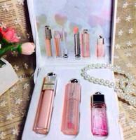 perfume set - Famouse brand quality product Waterproof Long Lasting Lip Stick Lip gloss Perfume Sweet girl Lip Makeup Set set
