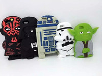 apple clone - 3D Lego Star Wars Soft Silicone CASE Master Yoda Darth Vader Maul R2D2 Clone Stormtrooper For Iphone Plus S S S Skin Luxury