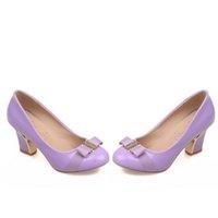 Bombas de zapatos de tacón alto caliente Mary Jane zapatos de mujer zapatos de 2016 mujeres de los talones de la bomba de la primavera gatito dedo del pie redondo talón grueso de los zapatos de la boca baja cuatro colores