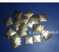 aluminum bronze sheet - 10mm diy four a square spire Pyramid rivets aluminum hot piece of aluminum sheet hot bronze sewing accessories