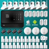 Wholesale 2015 WiFi GPRS SMS Home House GSM Alarm System Security Kit HD IP Camera MHz