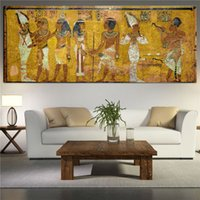 Wholesale Egyptian Decor Canvas Painting Oil Painting Wall Pictures For Living Room Wall Decor Large Canvas Art no framed A