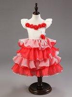 western wear - Whole newest fashion sleeveless ruffle flower girl dress patterns free baby girl party wear western dress