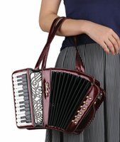 best music cover - USA famous accordionist recommended women s vintage handbag party concert use novelty Amliya music purse accordion bag best