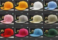 Precio de Sombreros de béisbol en blanco snapback-Sombreros en blanco de Hip Hop Sombreros del béisbol Sombreros del Snapback Sombreros del baloncesto Sombreros ajustables del color sólido Precio de fábrica al por mayor