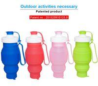 Wholesale 2016 new customized silcone folding bottle portalbewater bottle collapsible bottle