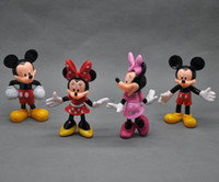 Wholesale New Mickey Minnie Mouse PVC Action Figures Doll Toys Set Kid Christmas Gift