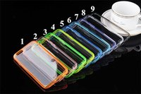 Wholesale For iphone Clear Transparent TPU Case Hybrid TPU PC Back Cover for Iphone Colorful Bumper Skin
