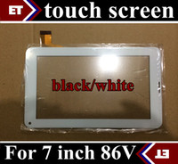 Wholesale 20PCS Replacement inch original Touch Screen with Glass Digitizer for inch Allwinner A33 A23 V Phone Call Tablet PC black white TC6