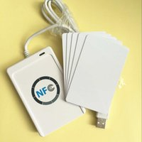 Wholesale ACR122U A9 MHZ HF Contactless RFID Smart Card NFC Reader Writer Support ISO14443A M1 Felica NFC Tags For Android Linux MAC Win7 Win8 OS