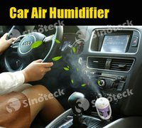 Wholesale Car Air Humidifier Air Aromatherapy Vehicle mounted Humidifier Car Fresh Accessories ML Car Humidifier Purifier Free DHL Factory Direct