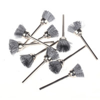 Wholesale 10Pcs mm Wire Cup Brushes Wheel Stainless Steel Cleaner for Dremel Rotary Tool