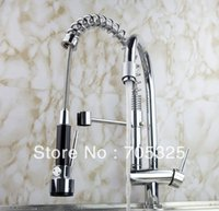 Wholesale Pull Up and Down Spray Kitchen Sink Chromed Brass Faucet Mixer Tap Z801
