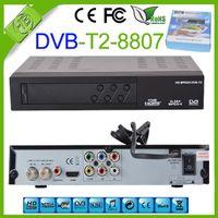 Cheap Newest DVB S2 8807 HD DVB T2 Receiver Digital Terrestrial satellite TV Receiver Compatible MPEG-2 MPEG-4 H.264 DVB-T2 HDMI 1080P Set top box