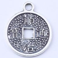 ancient copper coins - Circular hollow out pendant restoring ancient ways silver copper pendant DIY jewelry pendant fit Necklace or Bracelets ct