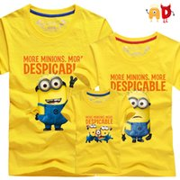 ads single - AD Cute Family t shirts Quality Cotton minion Father Mother and Kids T shirts Children Clothes Clothing for Boys Girls roupas