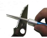 Wholesale 10 Diamond Outdoor Tool Pen shape Knife Sharpener Fishing Hook Sharpner E