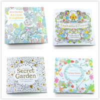 Wholesale English Edition Animal Kingdom secret garden Coloring Book For Children Adult Relieve Stress Kill Time Painting Drawing Book pages