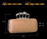 Wholesale 2015 Three Styles Lady Fashion Crystal Evening Bags MZ Plus Exquisite Bridal Clutch Purse Party Handbag Shoulder Bag