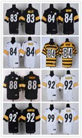 Wholesale Pittsburgh football Steelers rugdy Jerseys MILLER BROWN SWANN HARRISON KEISEL freeshipping