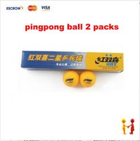 Wholesale 2 pack DHS star Table tennis ball pingpong balls white pack