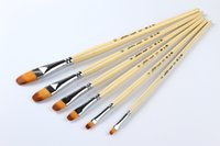 Wholesale Hot Products Nylon Painting with Brush Artist Drawing Brush with Bi color Nylon hair Filbert Hair Shape