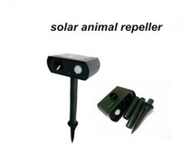 Cheap 24pcs lot EMS Hot Selling solar powered ultrasonic animal repeller repellent birds dogs cats deer rat mice monkey mole Free Shiping