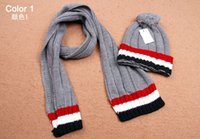 Wholesale MOQ High Quality Wool Kintting Women s Scarf Set Men s Hats Scarves Sets Hat Scarf