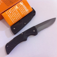 bear box camping - 20 MM Small Bear Compact Scout Folding Knife Combo Blade outdoor camping survival rescue knives with retail box